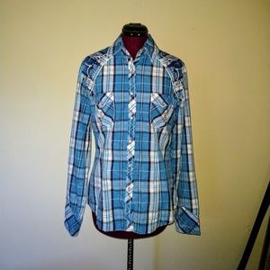 Panhandle Size Medium Shirt Pearl Snap Embroidered